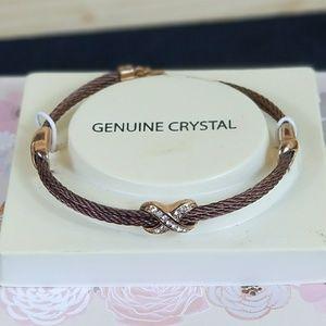 NEW! Stainless Steel Crystal Bracelet